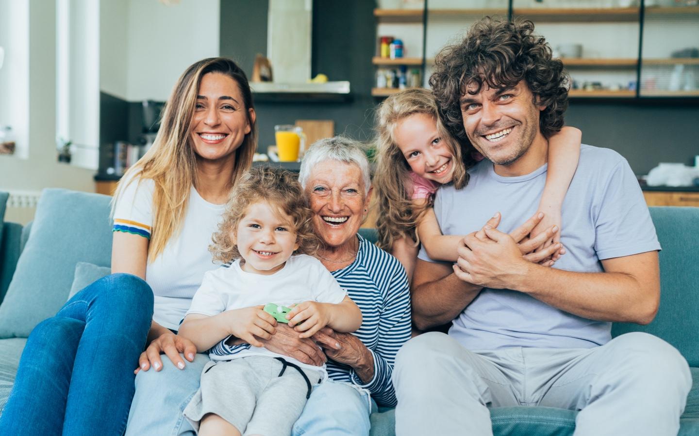 Uśmiechnięta rodzina - sekcja Wartości Biocodex w kariera